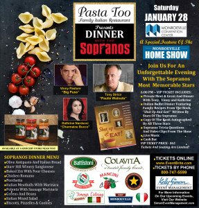 Dinner With the Sopranos - Special Feature of the 2nd Annual Monroeville Home Show @ Monroeville Convention Center | Monroeville | Pennsylvania | United States