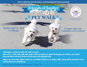 Friends of Jupiter Pet Walk @ Boyce Park - Tanglewood Shelter | Plum | Pennsylvania | United States