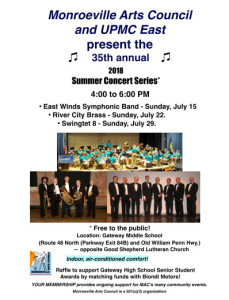 Monroeville Arts Council 2018 Summer Concert Series presents River City Brass @ Gateway Middle School | Monroeville | Pennsylvania | United States