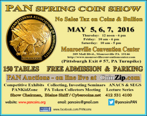 PAN Spring Coin Show @ Monroeville Convention Center | Monroeville | Pennsylvania | United States