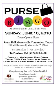 Purse BINGO to Benefit GIVE KIDS THE WORLD @ Monroeville Convention Center - South Hall | Monroeville | Pennsylvania | United States